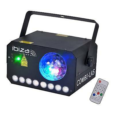Ibiza Light COMBI-LAS LED Laser Light Effect 3 in 1 Disco DJ Lighting inc Remote