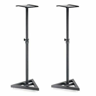 Stagg SMOS-10 Pair of Monitor Speaker Stands Heavy Duty Studio DJ Metal Black