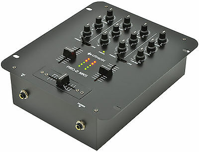 Citronic PRO:2 DJ Mixer MKII 2 Channel Mixer Disco Sound Audio