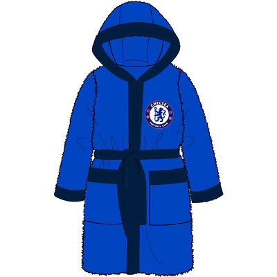 Chelsea Fc Boys Childs Bath Robe Dressing Gown Age 3-12 Years Cfc Xmas Gift