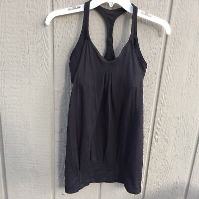 Lululemon Women Black Thin No Limits Athletic Tank Top Size 6