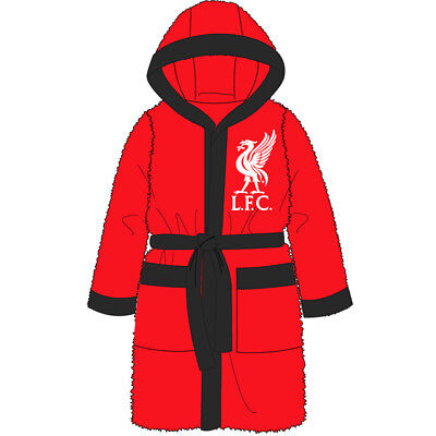 Liverpool Fc Boys Childs Bath Robe Dressing Gown Age 3-12 Years Lfc Xmas Gift