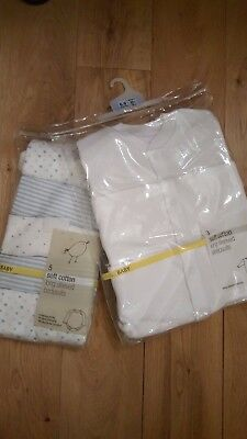 M&S brand new bodysuits and sleepsuits size 6-9 months