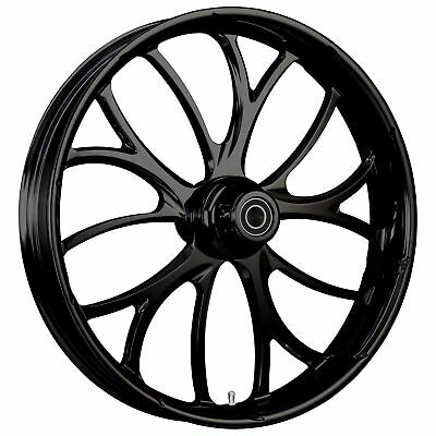 "Electron BL 18 x 5.5"" Rim, Rotors, Tire, Black Pitbull Fat Tire Kit - 00-13 FLH"
