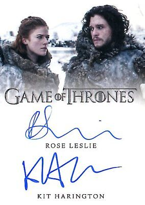 Game Of Thrones Valyrian Steel DUAL AUTOGRAPH card KIT HARINGTON & ROSE LESLIE