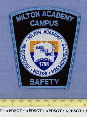 MILTON ACADEMY CAMPUS SAFETY MASSACHUSETTS Sheriff School Police Patch BOOK