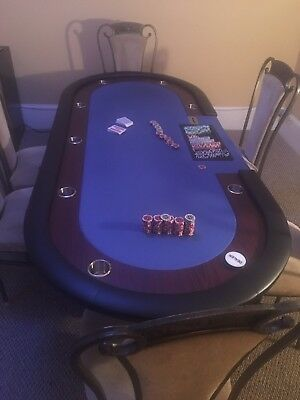 Professional Poker Tables with 6 Chairs and Professional Chips