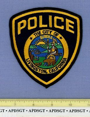 LIVINGSTON CALIFORNIA Sheriff Police Patch WALKING BEAR STATE SEAL
