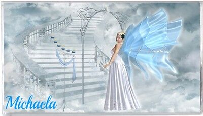 Personalized Checkbook Cover-Blue Angel