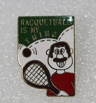 Vintage Racquetball Is My Thing ~ Collector Hat Pin/Lapel Pin
