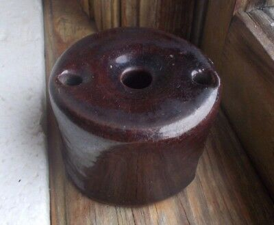 EARLY REDWARE POTTERY INKWELL FOR QUILL PENS AUTHENTIC 1780s INK BOTTLE