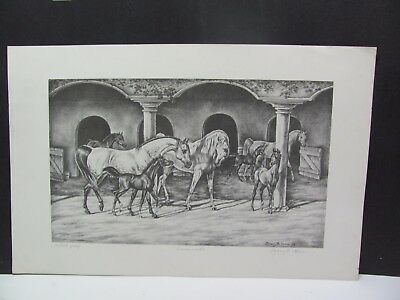 Shary B Akers  PROMENADE Artist Proof Original Print on Pencil