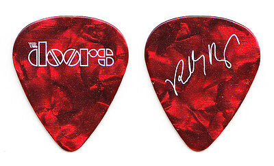 The Doors Robby Krieger Signature Promotional Red Pearl Guitar Pick - 2017