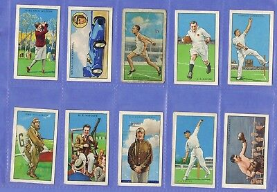 1935 Champions Tobacco Cigarettes 48 Cards Set Golf Boxing Soccer Dogs Pool