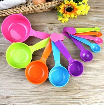 Colorful 5PCS Kitchen Tools Measuring Spoons Measuring Cups Baking Utensil Set J