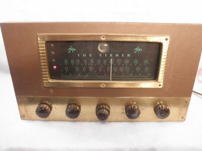 1954 Fisher Model 70RT Fifteen Tube AM/FM Tuner Preamplifier-Recapped- Works NR