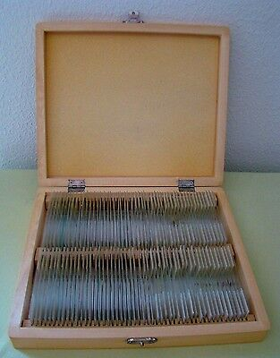Deluxe Prepared Microscope Slide Set of 100 Slides in Wooden Storage Box Set 2