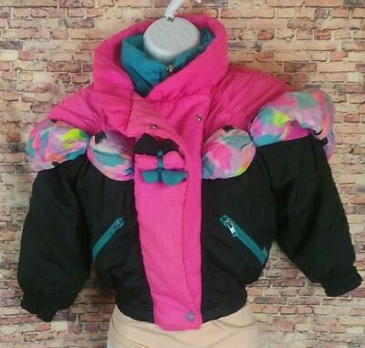 VTG London Fog youth girls size 5/6 winter coat 80's retro color block