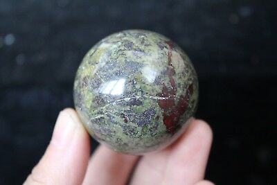 145g TOP!!! NATURAL dragon Blood Stone CRYSTAL Sphere ball healing