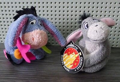 Disney Parks Eeyore Mini Magnetic Plush Tagged And Mini Plush With Flower