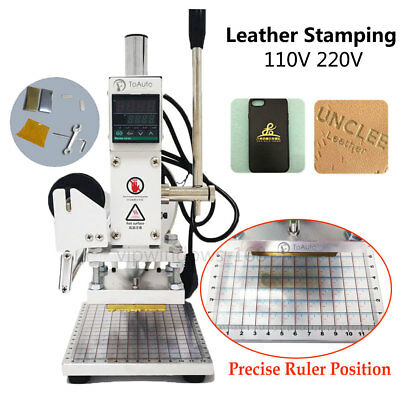 Manual Digital Hot Foil Leather Stamping Machine Card PU Paper Embossing& Holder