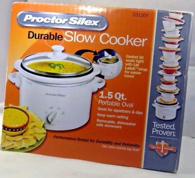 proctor silex slow cooker 33116Y Portable 1.5-Quart - Free shipping within USA