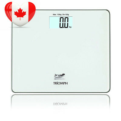 Triomph Precision Digital Body Weight Bathroom Scale with Step on...
