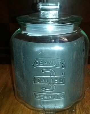 Countertop 3 Cent Salted Peanut Octogon Shaped Canister / Jar