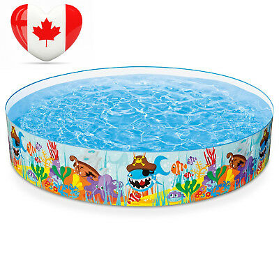 """Intex Ocean Reef Snapset Inflatable Pool, 8' X 18"""", for Ages 3+"""
