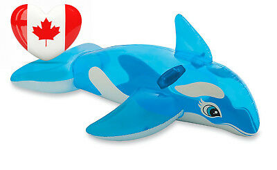 """Intex Lil' Whale Ride-On, 60"""" X 45"""", for Ages 3+"""