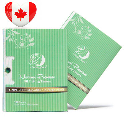 Natural Green Tea Oil Absorbing Tissues - 200 Counts in 2 Pack, Premium Face...