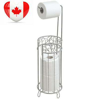 InterDesign Twigz Free Standing Toilet Paper Roll Holder for Bathroom...