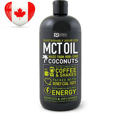 Premium MCT Oil derived only from Organic Coconuts - 32oz BPA free bottle |...