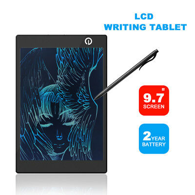 """9.7"""" inch LCD e-Writer Tablet Writing Drawing Memo Message Black Boogie Board"""