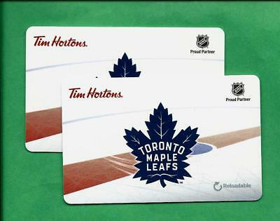 Pair of Tim Hortons  NHL Toronto Maple Leafs Gift Cards  FD53944  No Value