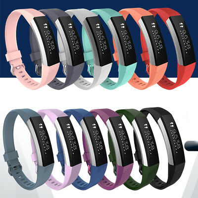 Silicone Replacement Wristband Buckle Watch Band Strap For Fitbit Alta HR S / L