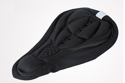Black Cycling Bicycle Bike 3D Sponge Pad Seat Saddle Cover Soft Cushion By Air