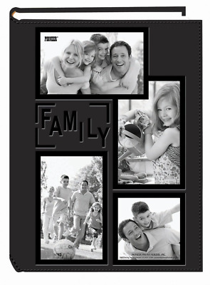 Collage Frame Embossed Family Sewn Leatherette Cover 300 Pocket Photo Album