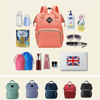 2017 New Mummy Baby Maternity Diaper Bag Nappy Changing Large Capacity Backpack