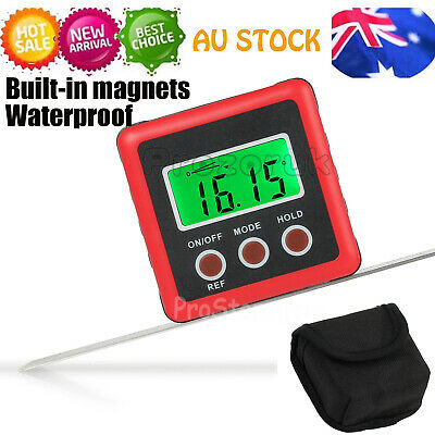 0-360° LCD Digital Protractor Inclinometer Angle Meter Spirit Level Finder Gauge
