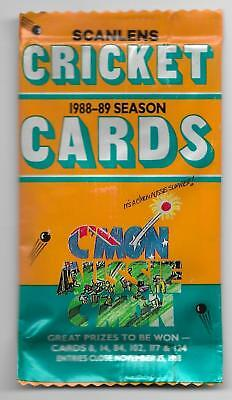 1988 - 89 Scanlens Cricket Cards - UNOPENED PACK (36 Available)
