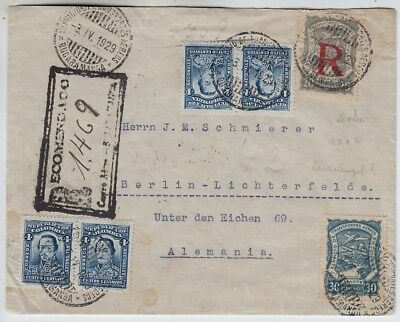 Kolumbien SCADTA, R-Brief Bucaramanga - Berlin 1929
