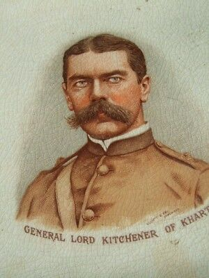 Antique Staffordshire Wall Plaque C.1900 General Lord Kitchener of Khartoum.