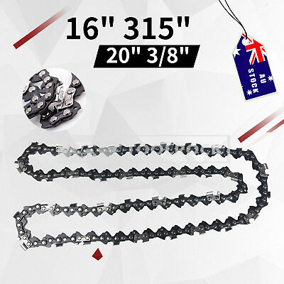 """Toolrock Chainsaw Chain 16""""/20"""" Bar Replacement Spare Parts 3/8 57DL or. 325 76D"""