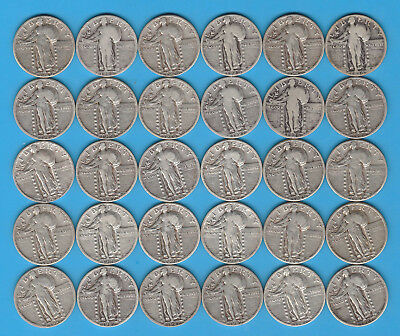 Lot of 30 Walking Liberty Quarters - Some Very Nice