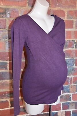 BELLY BASICS Maternity Jumper - Purple - Size S - VGUC
