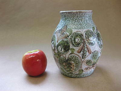 Vintage Denby Stoneware Vase ~ Glyn Colledge Design ~ Stylised Floral