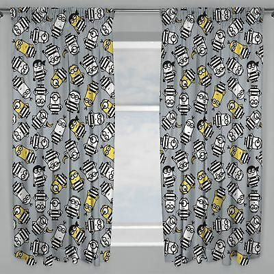 "Despicable Me Minions Jailbird Readymade Curtains Kids 54"" Drop"