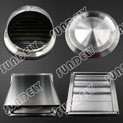 Stainless Steel Ventilation Metal Wall Air Vent Outlet 80 - 200mm Ducting AU