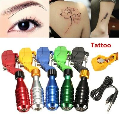 Pro Rotary Tattoo Gun Machine Motor Liner&Shader with RCA Cable Kit Multi Colors